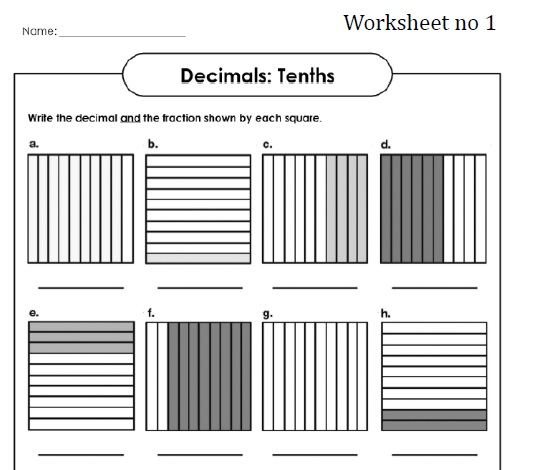 Tenths Worksheet Yourhelpfulelf – Tenths and Hundredths Worksheets